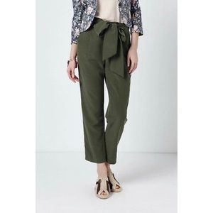ANTHROPOLOGIE | Coquille Green Belted Tie Pants 0